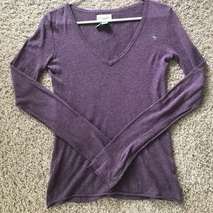 Women's AF Abercrombie Fitch Sweater Purple Medium